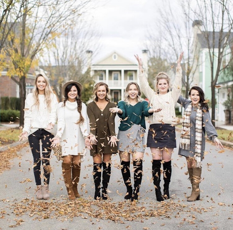 Some of the Augusta Bloggers pose for a fun fall photo. (Photo from Augusta Bloggers' Instagram)